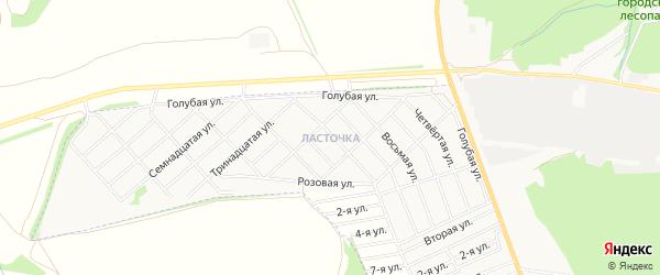 Карта района Ласточки города Белебея в Башкортостане с улицами и номерами домов