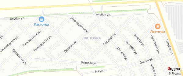 Двадцать седьмая улица на карте района Ласточки с номерами домов