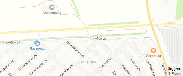 Голубая улица на карте Белебея с номерами домов