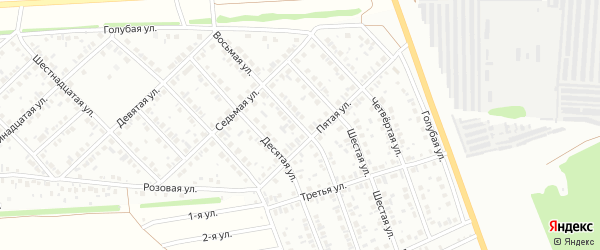 Восьмая улица на карте района Ласточки с номерами домов