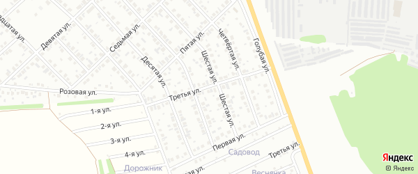 Третья улица на карте микрорайона Ласточки с номерами домов