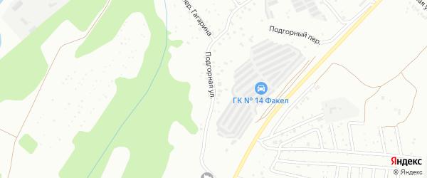 Подгорная улица на карте Чайковского с номерами домов