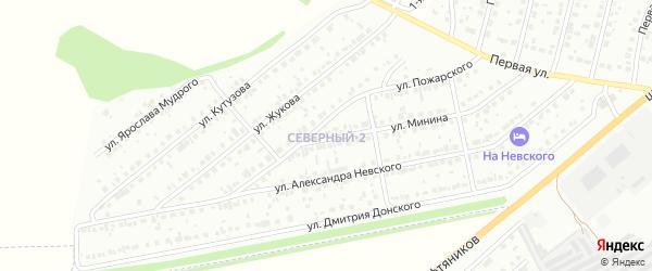 Улица К.Жукова на карте района Северного микрорайона с номерами домов