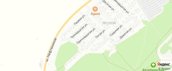 Одиннадцатая улица на карте района Ласточки с номерами домов