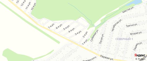 Четвертая улица на карте СНТ Родника Башкортостана с номерами домов