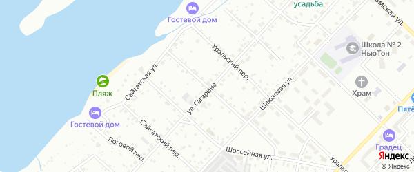 Шлюзовой переулок на карте Чайковского с номерами домов