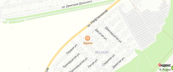 Первая улица на карте Лесной района с номерами домов