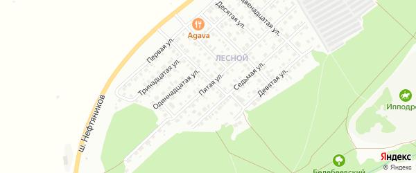 Пятая улица на карте Лесной микрорайона с номерами домов