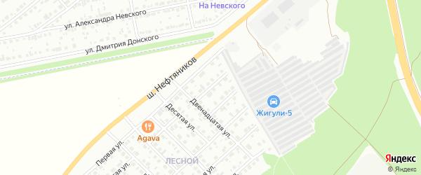 Семнадцатая улица на карте Белебея с номерами домов