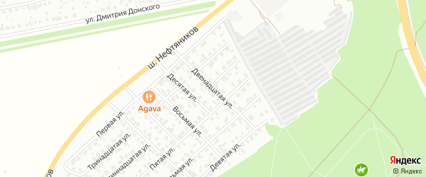 Двенадцатая улица на карте Лесной микрорайона с номерами домов