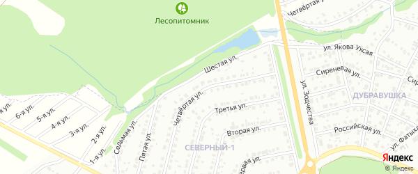 Четвертая улица на карте Белебея с номерами домов