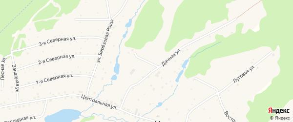 Улица Дачная-1 на карте деревни Марково с номерами домов