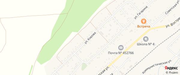 Улица Кирова на карте села Кандры с номерами домов