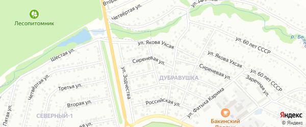Родниковая улица на карте Белебея с номерами домов