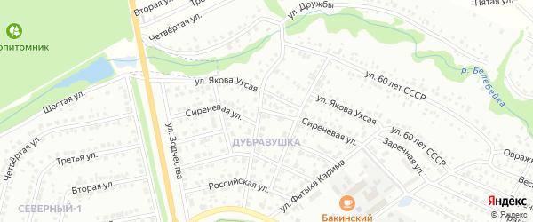 Сиреневая улица на карте Белебея с номерами домов