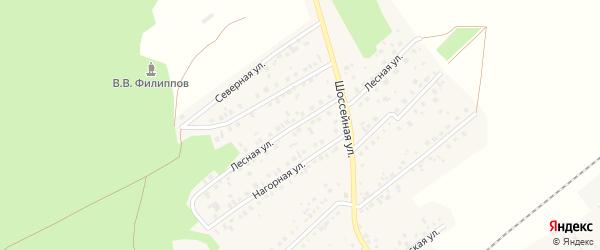 Лесная улица на карте села Кандры Башкортостана с номерами домов