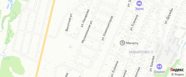 Переулок Рахманинова на карте Чайковского с номерами домов