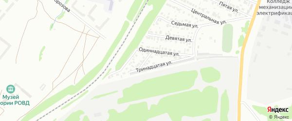 Четвертая улица на карте района Солнечного микрорайона с номерами домов