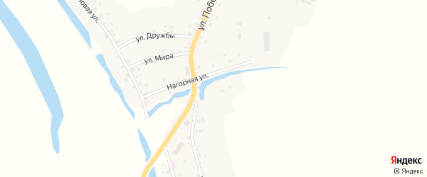 Молодежная улица на карте села Староянзигитово Башкортостана с номерами домов