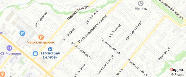 Переулок Тукаевский 2 на карте Белебея с номерами домов
