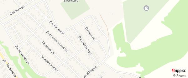 Дачная улица на карте села Кандры с номерами домов