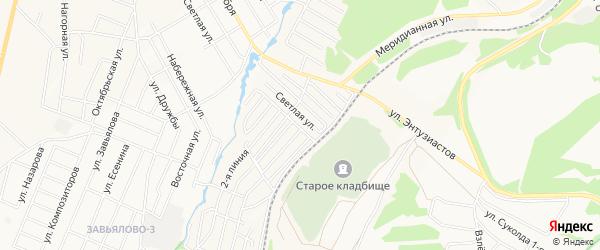 Садовое товарищество N 28 Прогресс на карте Чайковского с номерами домов
