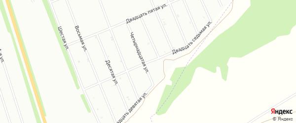 Двадцать седьмая улица на карте Белебея с номерами домов