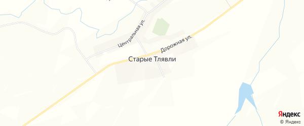 Карта деревни Старые Тлявли в Башкортостане с улицами и номерами домов