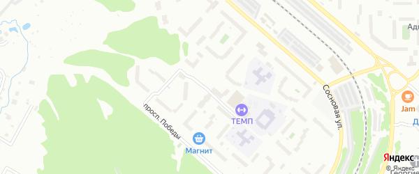 Сиреневый бульвар на карте деревни Белой Горы с номерами домов