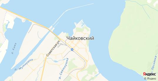 Карта Чайковского с улицами и домами подробная. Показать со спутника номера домов онлайн