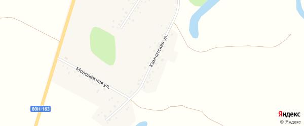 Камчатская улица на карте села Каныкаево Башкортостана с номерами домов