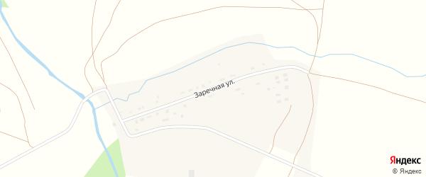 Заречная улица на карте села Пономаревки Оренбургской области с номерами домов
