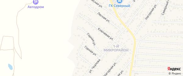 Горная улица на карте села Николо-Березовки Башкортостана с номерами домов