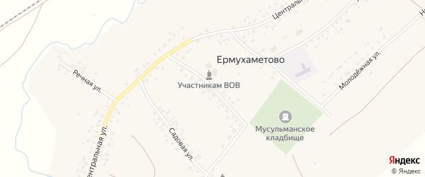 Улица Матросова на карте села Ермухаметово с номерами домов