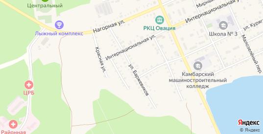 Улица Баржевиков в Камбарке с номерами домов на карте. Спутник и схема онлайн