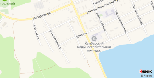 М.Зеленая улица в Камбарке с номерами домов на карте. Спутник и схема онлайн