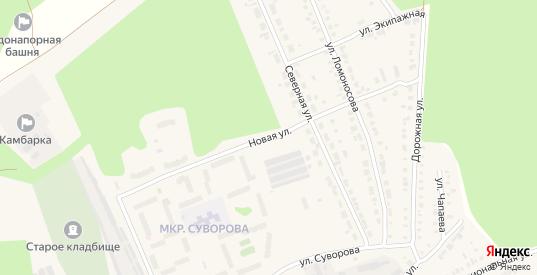 Новая улица в Камбарке с номерами домов на карте. Спутник и схема онлайн