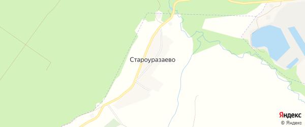 Карта деревни Староуразаево в Башкортостане с улицами и номерами домов