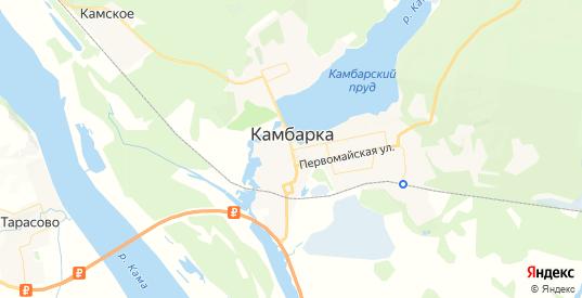 Карта Камбарки с улицами и домами подробная. Показать со спутника номера домов онлайн