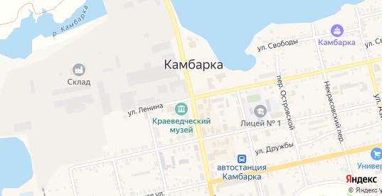Улица В.К.Пикалова в Камбарке с номерами домов на карте. Спутник и схема онлайн