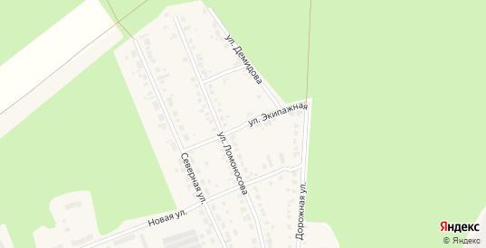Экипажная улица в Камбарке с номерами домов на карте. Спутник и схема онлайн