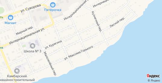 Колхозный заезд в Камбарке с номерами домов на карте. Спутник и схема онлайн
