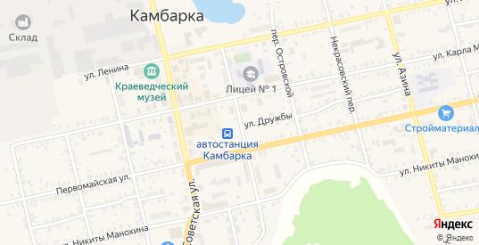 Комсомольский переулок в Камбарке с номерами домов на карте. Спутник и схема онлайн