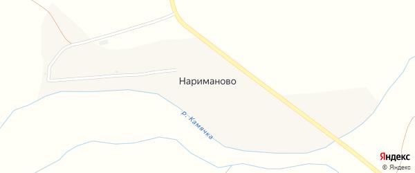 Заречная улица на карте села Нариманово Оренбургской области с номерами домов