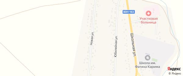 Новая улица на карте села Аитово с номерами домов