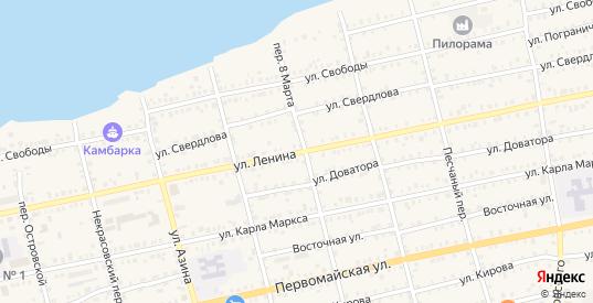 Улица Ленина в Камбарке с номерами домов на карте. Спутник и схема онлайн