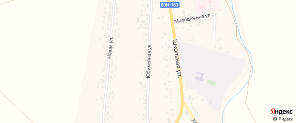 Юбилейная улица на карте села Аитово с номерами домов