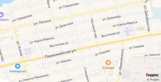 Восточная улица в Камбарке с номерами домов на карте. Спутник и схема онлайн