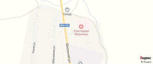 Молодежная улица на карте села Аитово Башкортостана с номерами домов