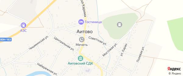 Советская улица на карте села Аитово с номерами домов